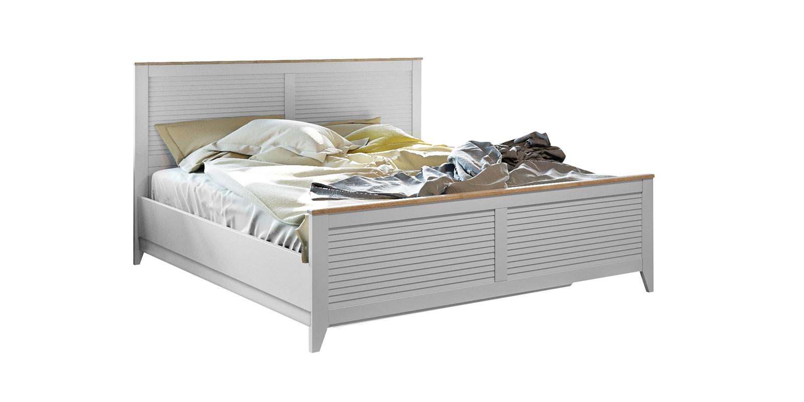Кровать каркасная 200х160 Мерида с подъемным механизмом (дуб бежевый/белый)