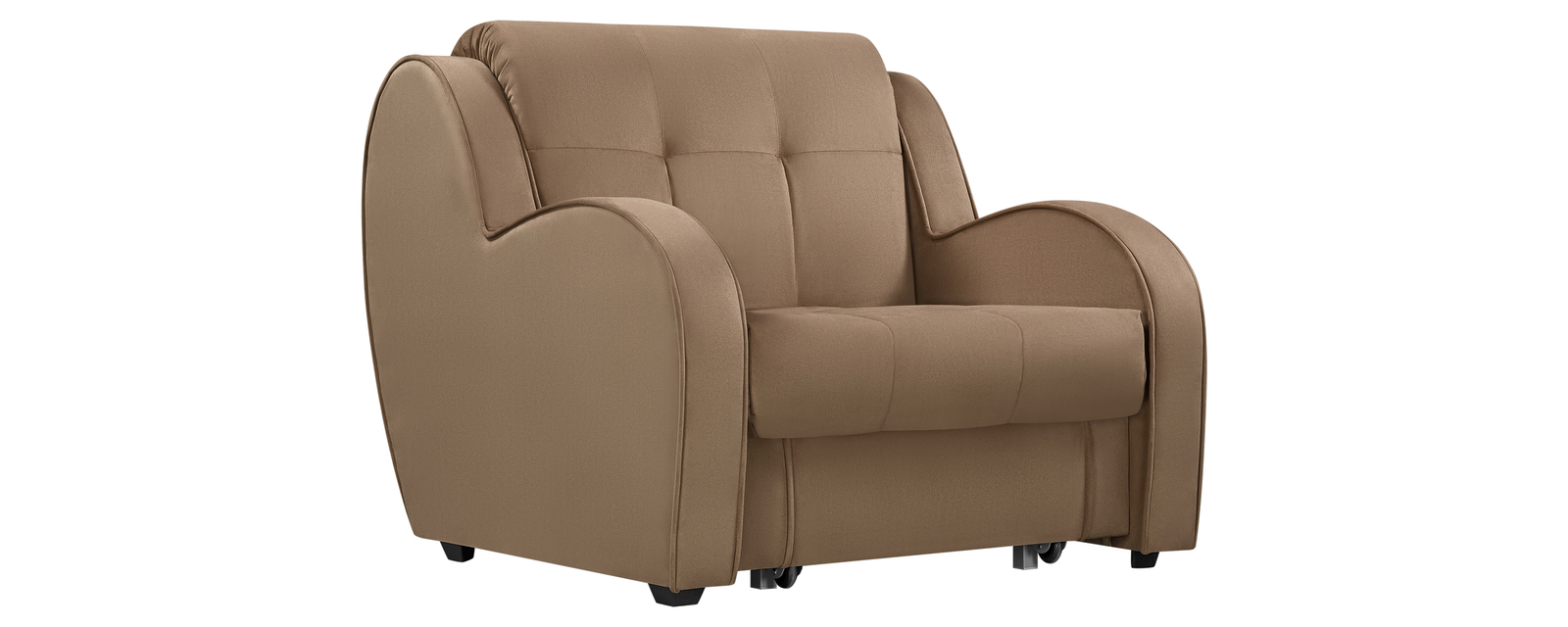 Кресло тканевое Барон Velure коричневый (Велюр) Барон