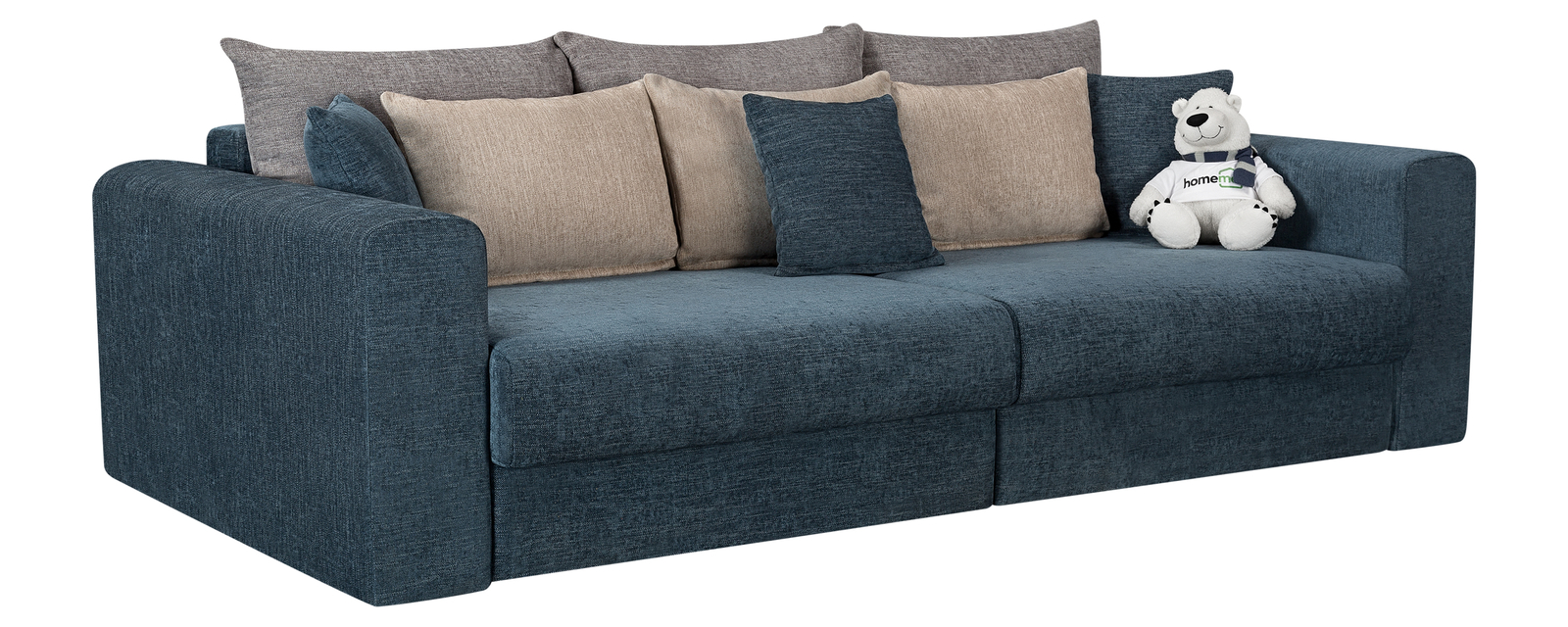 Модульный диван Медисон Вариант №4 Anabelle синий (Шенилл)