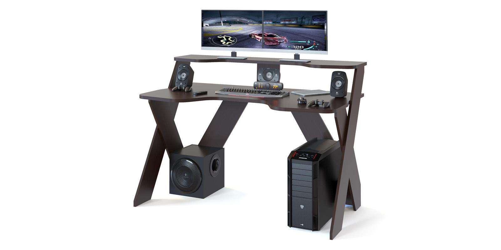 Стол компьютерный Коста (венге)