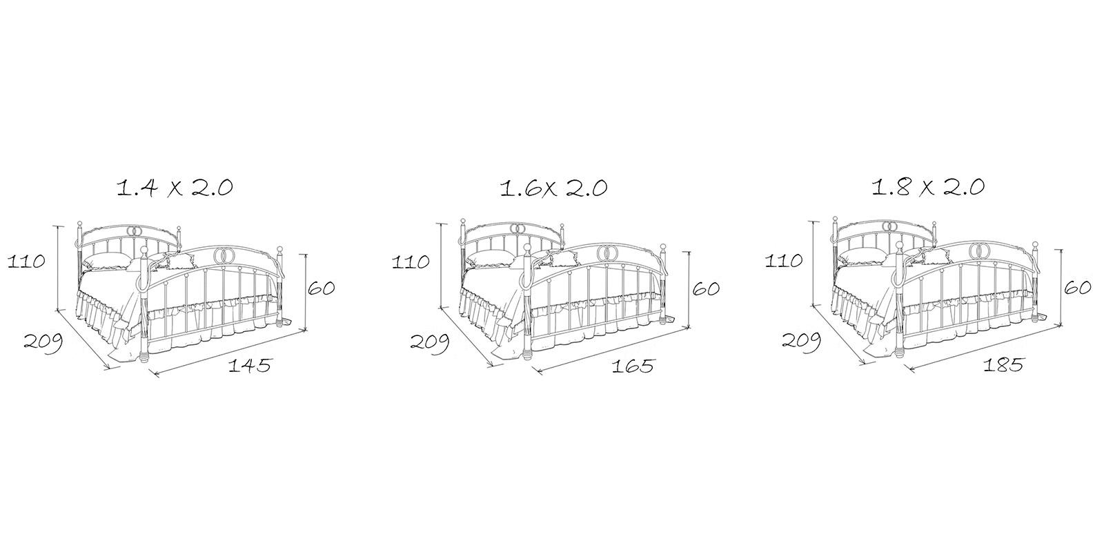 Металлическая кровать 180х200 Сандра с ортопедическим основанием (белый с золотом) S012/1-8