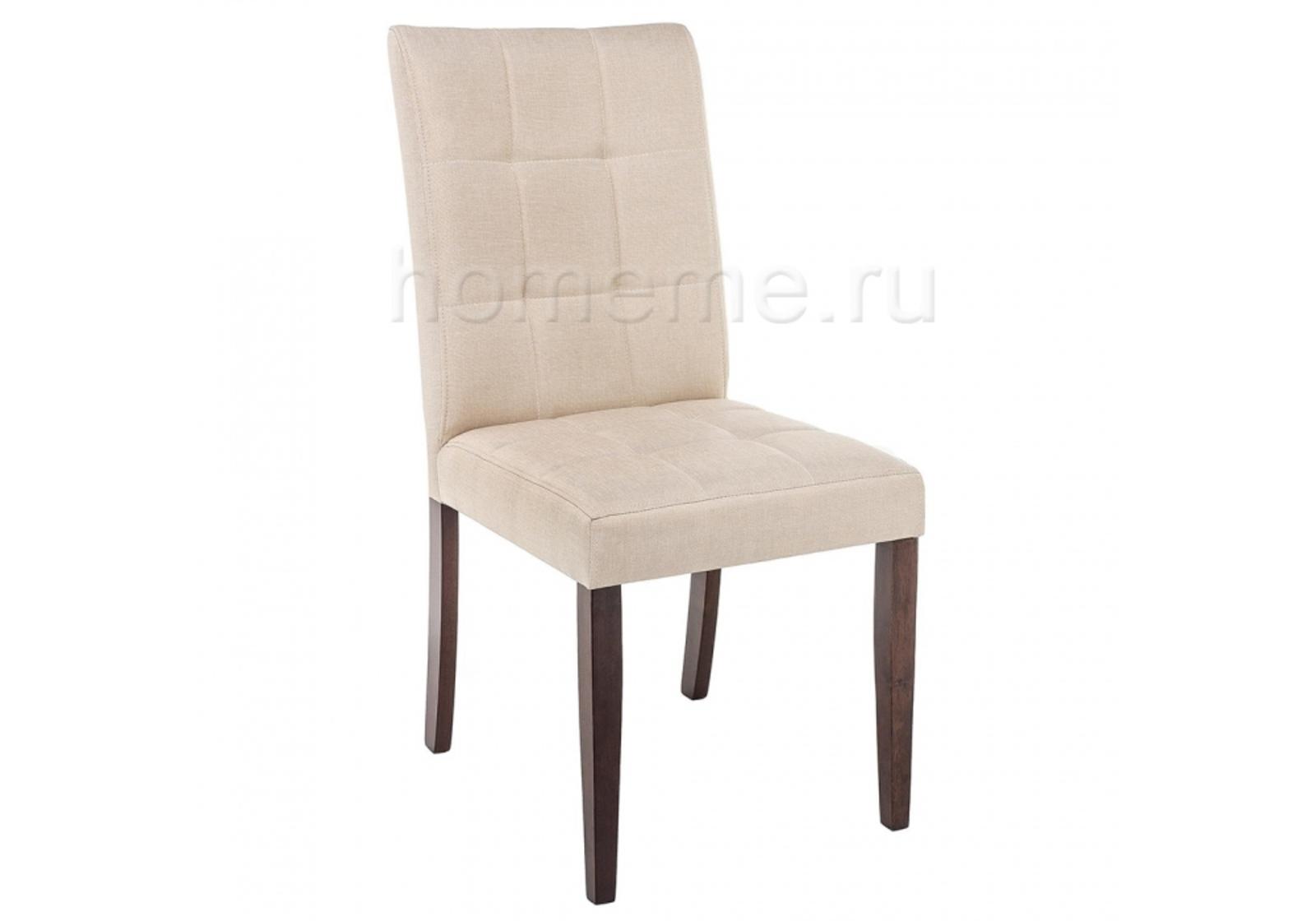 Стул HomeMe Madina dark walnut / fabric cream 11029 от Homeme.ru