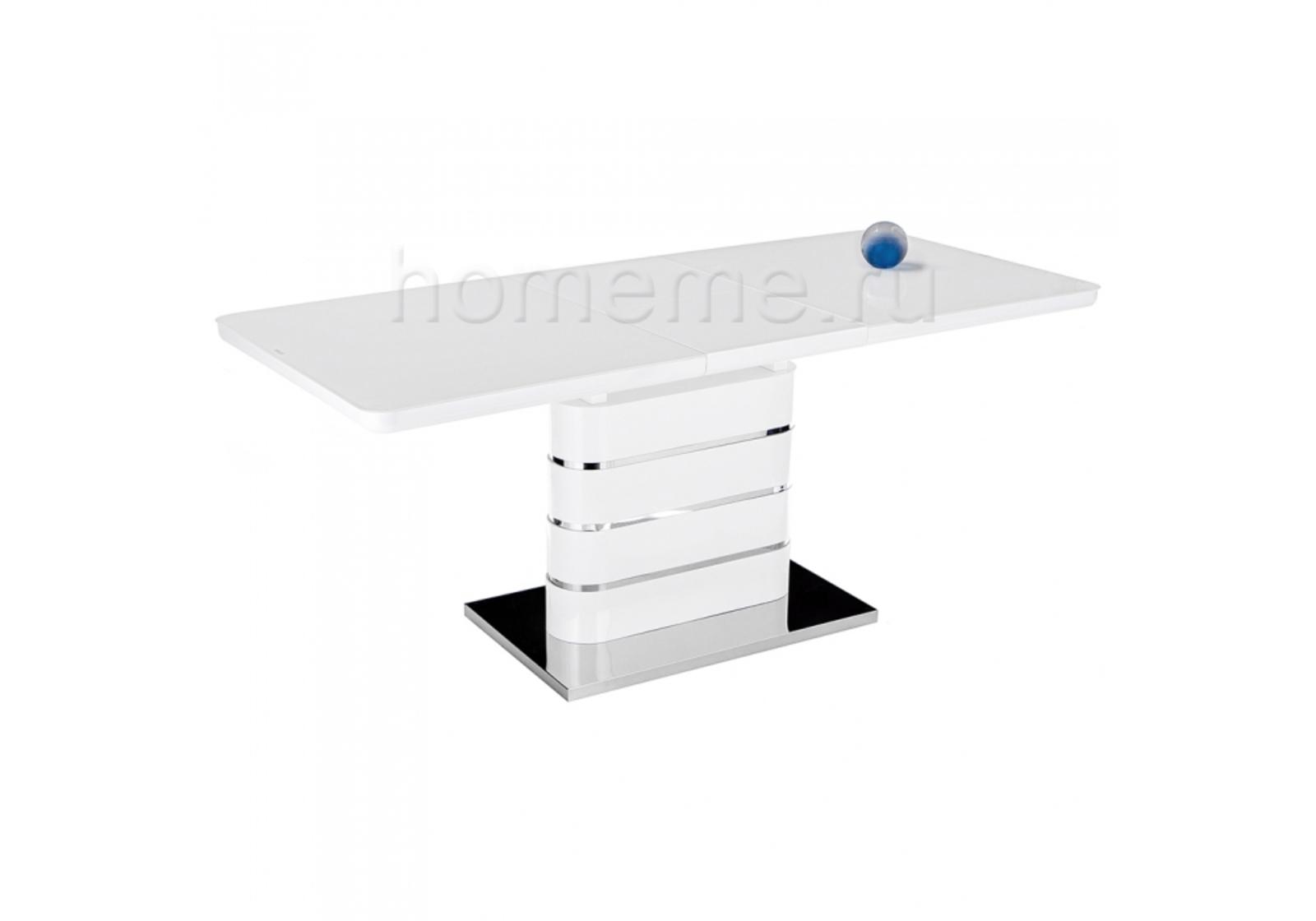 Стол стеклянный Plas 160 super white 11163 Plas 160 super white 11163 (14447)