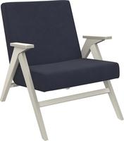 Кресло для отдыха Вест Дуб шампань, ткань Verona Denim Blue, кант Verona Denim Blue