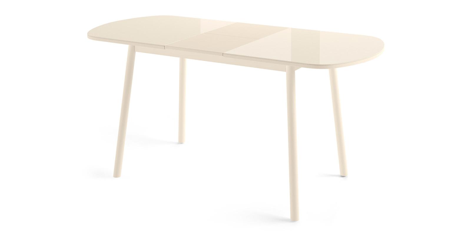 Обеденный стол Раунд (кремовый)