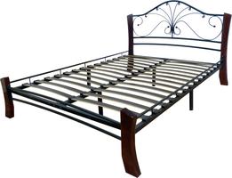 Кровать Фортуна 4 Лайт /140*200/Металл/Черный/Шоколад/