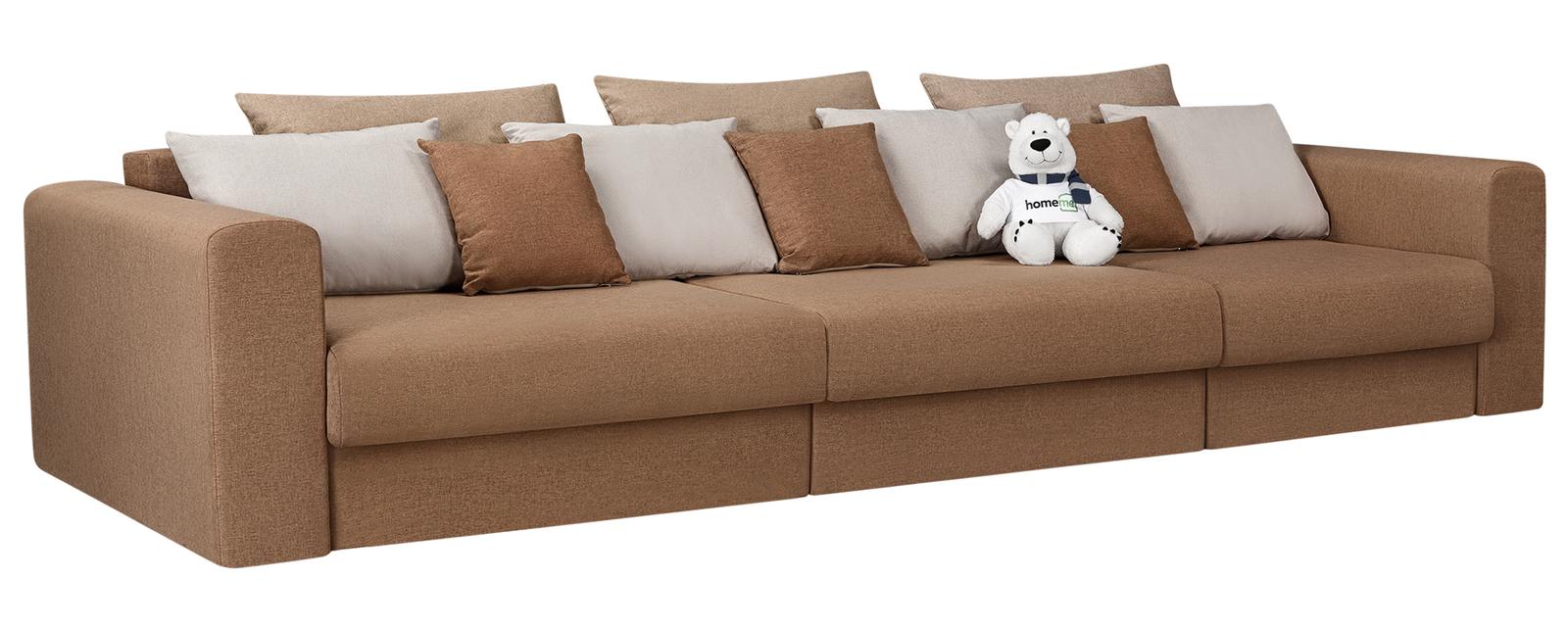 Модульный диван Медисон Вариант №1 Kiton коричневый (Рогожка)
