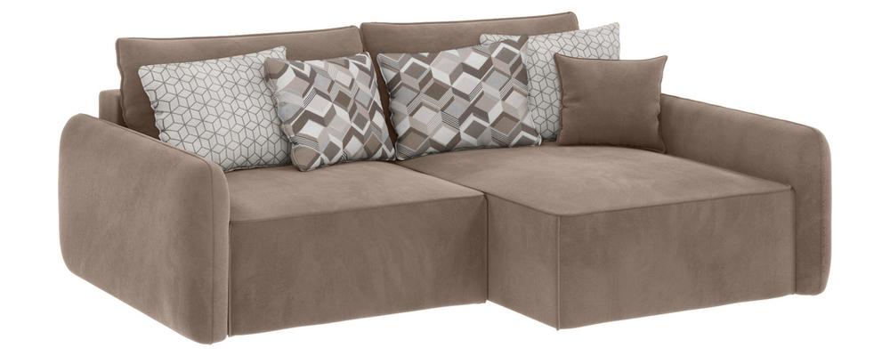 Модульный диван Портленд вариант №4 Premier тёмно-бежевый (Микровелюр, правый)