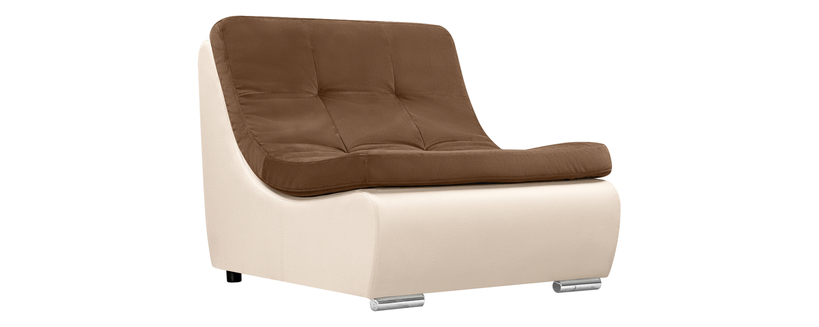 Кресло тканевое Лос-Анджелес Velure коричневый (Велюр + Экокожа)