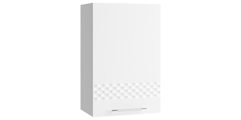 Кухонный навесной шкаф Тиара 45/70 см (серый/белый глянец, правый)