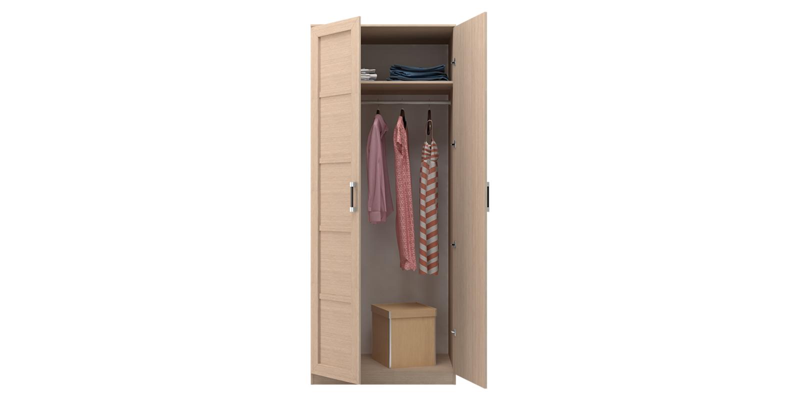 Шкаф распашной двухдверный Дельта (дуб белфорт) от HomeMe.ru