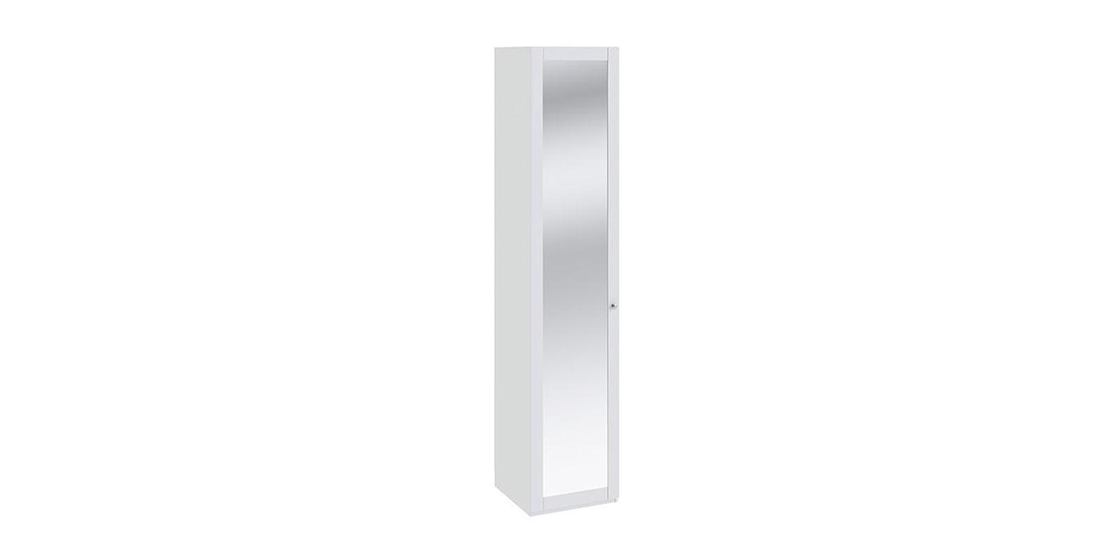 Шкаф распашной однодверный Мерида вариант №8 (белый/зеркало)