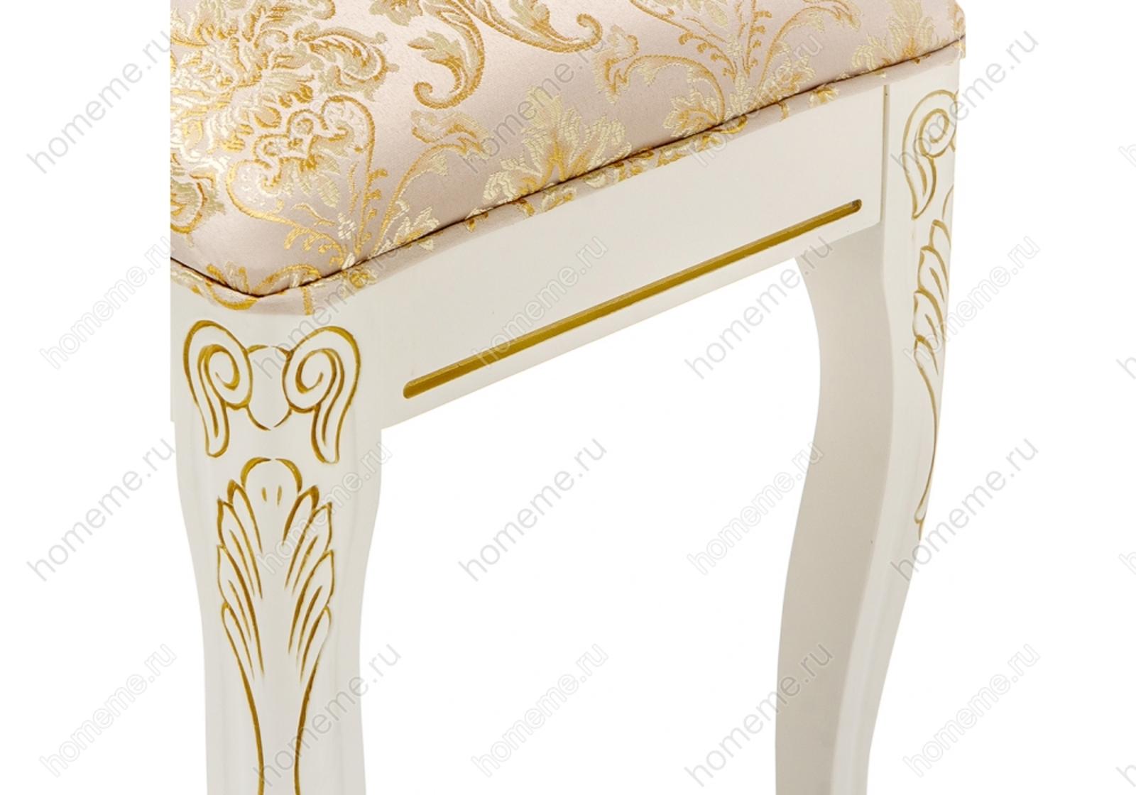 Стул деревянный Валентино патина золото / бежевый 309320 Валентино патина золото / бежевый 309320 (16088)