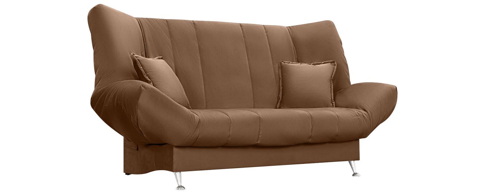 Диван тканевый прямой Санта Velure коричневый (Велюр) Санта