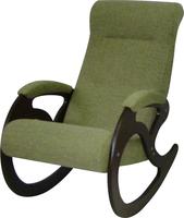 Кресло качалка Венера/Темный орех/Зеленый БИНГО 7