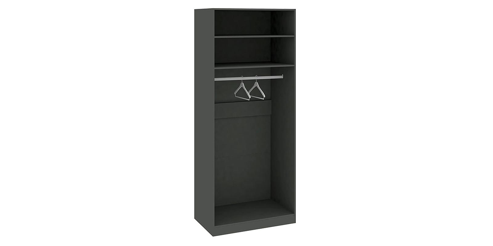 Шкаф распашной двухдверный Сорренто вариант №2 правый (серый/коричневый)