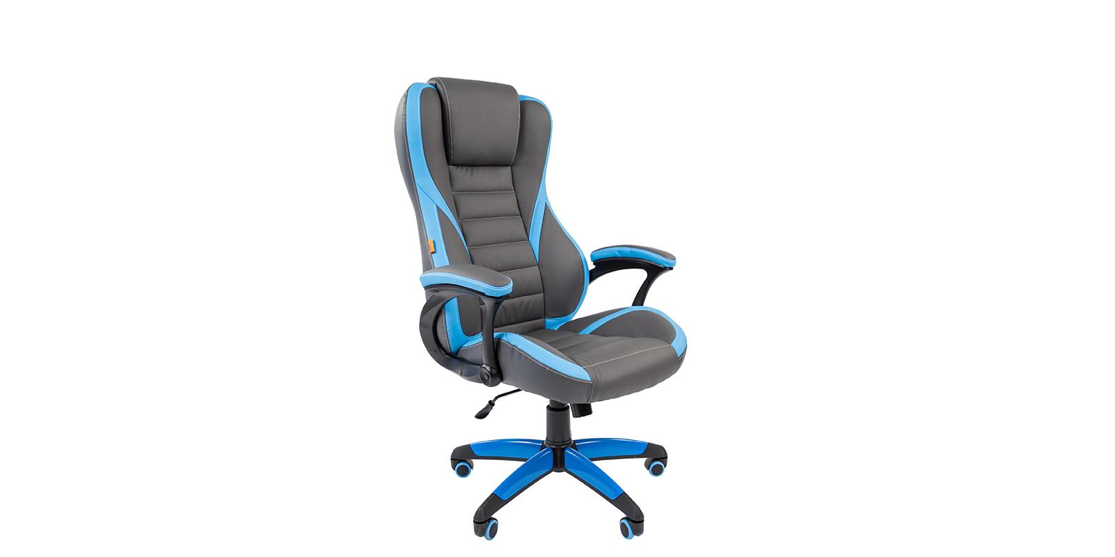 Игровое кресло Chairman game 22 (серый/голубой)