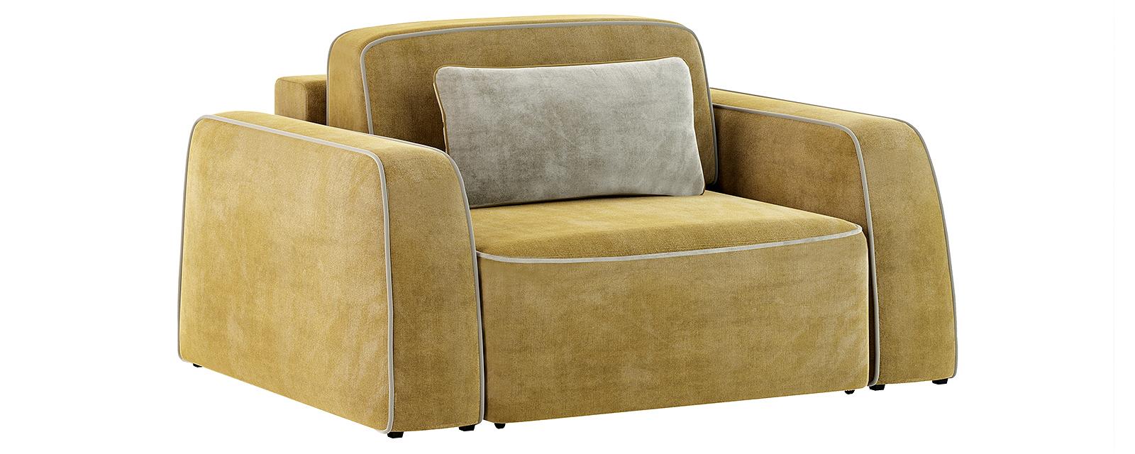 Кресло тканевое Портленд 100 см Velure оливковый/бежевый (Велюр)