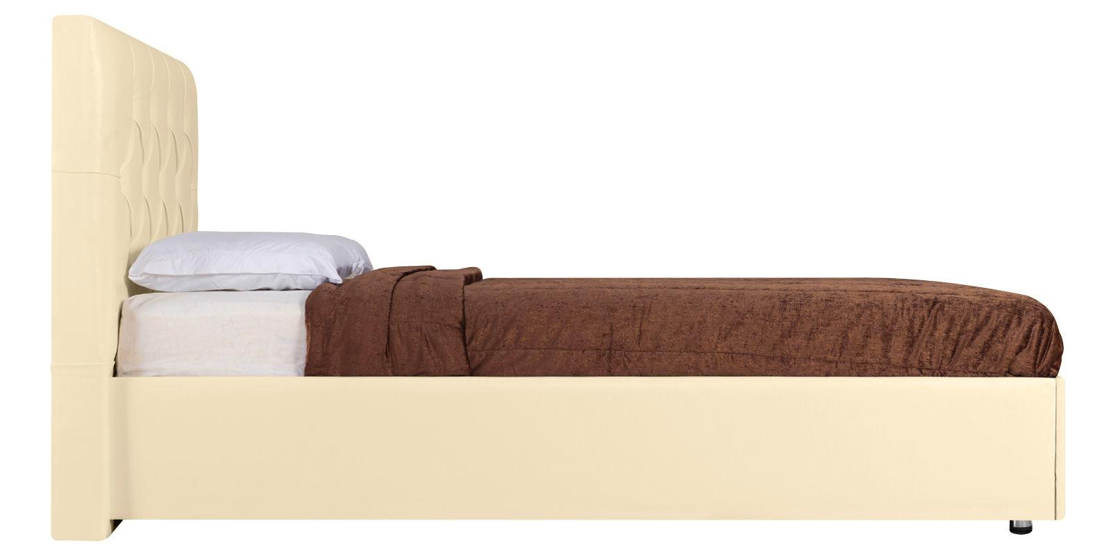 Мягкая кровать 200х160 Малибу вариант №2 с подъемным механизмом (Бежевый)