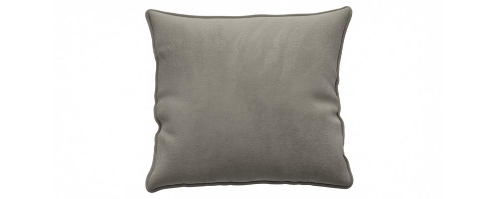 Декоративная подушка Портленд 41х41 см Premier тёмно-бежевый (Микровелюр)