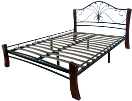 Кровать Фортуна 4 Лайт /120*200/Металл/Черный/Шоколад/