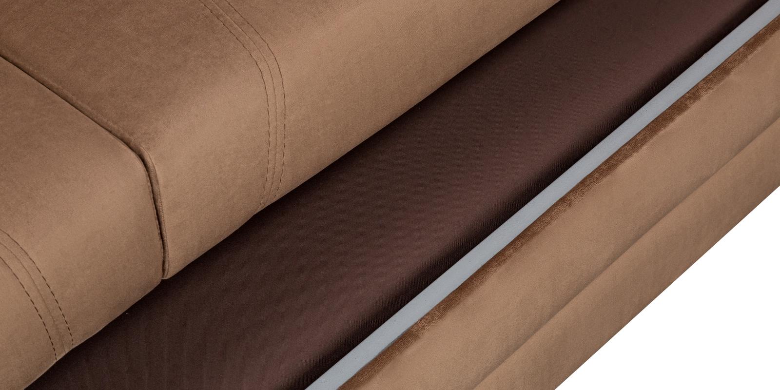 Диван тканевый угловой Бристоль Velure коричневый (Велюр, правый)
