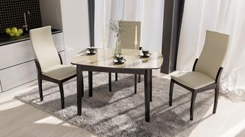 Обеденная группа: стол «Портофино», стулья «Бруклин Тип 1»