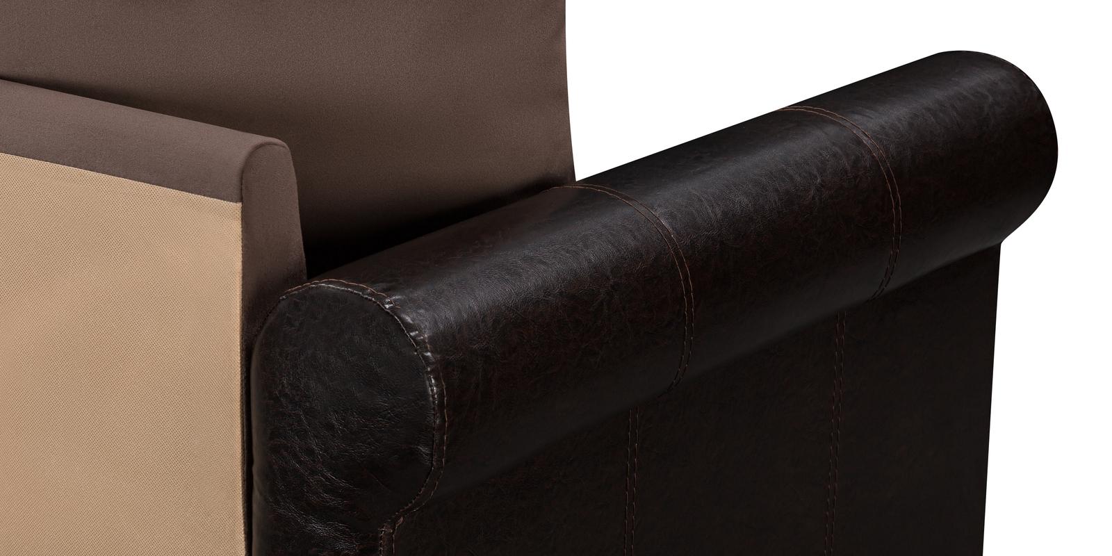 Диван тканевый угловой Рейн Velure темно-коричневый (Велюр + Экокожа)