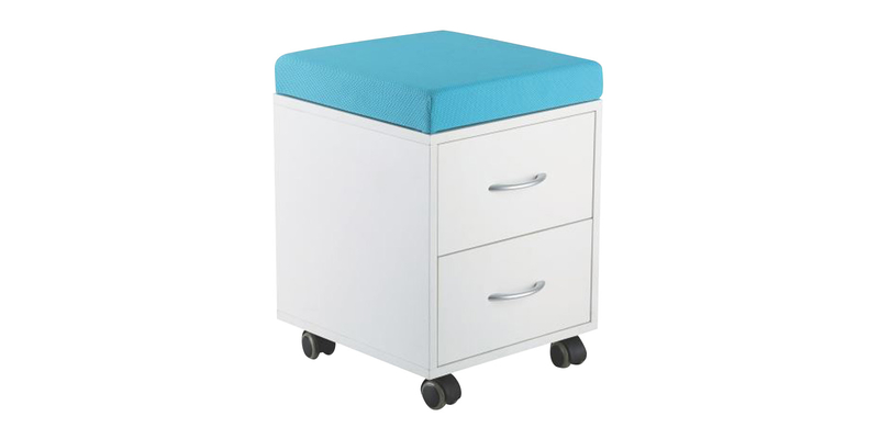 Детская тумба Ss15W (белый/голубой)