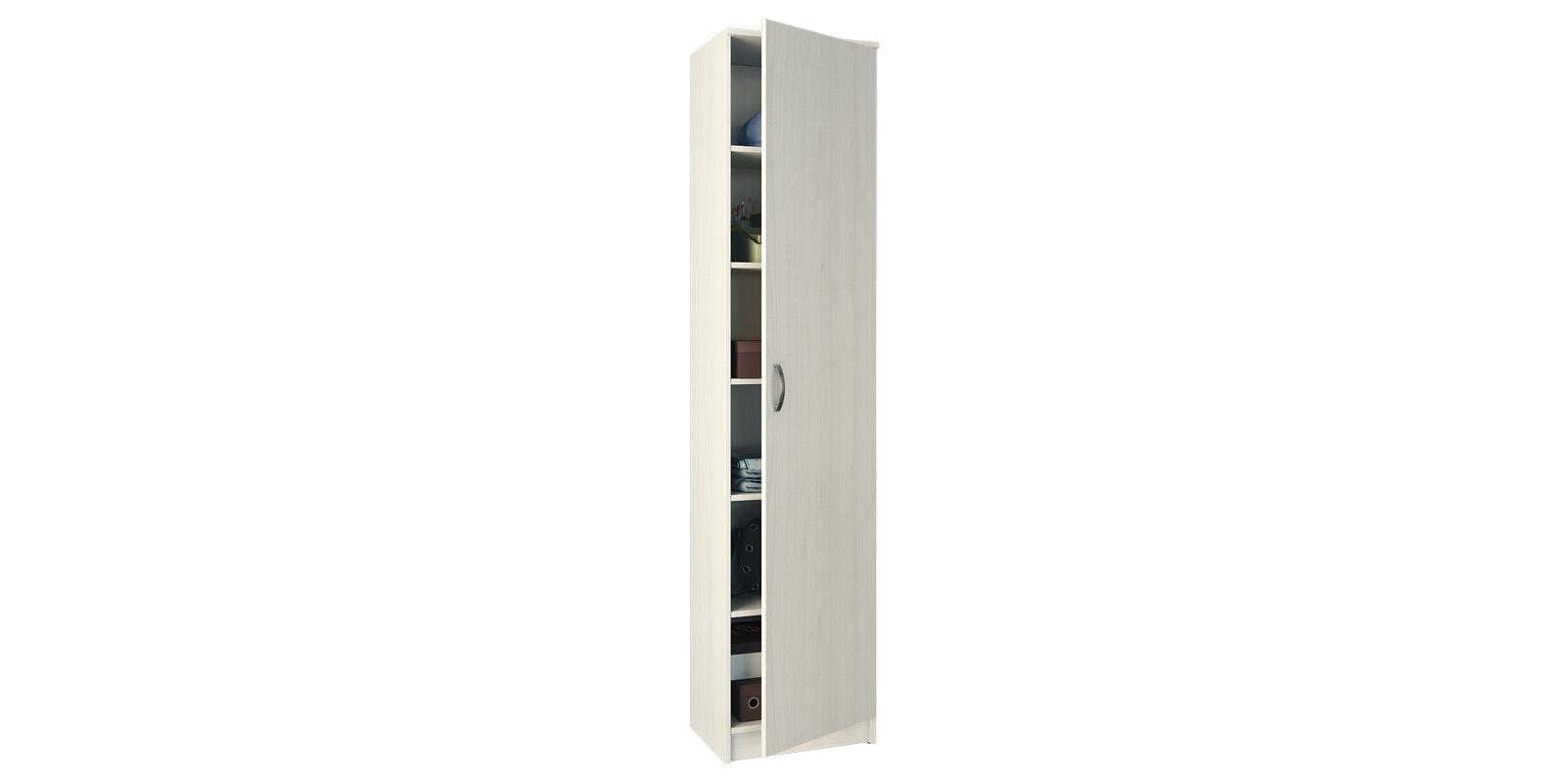 Шкаф распашной однодверный Хельга вариант №1 (белый)