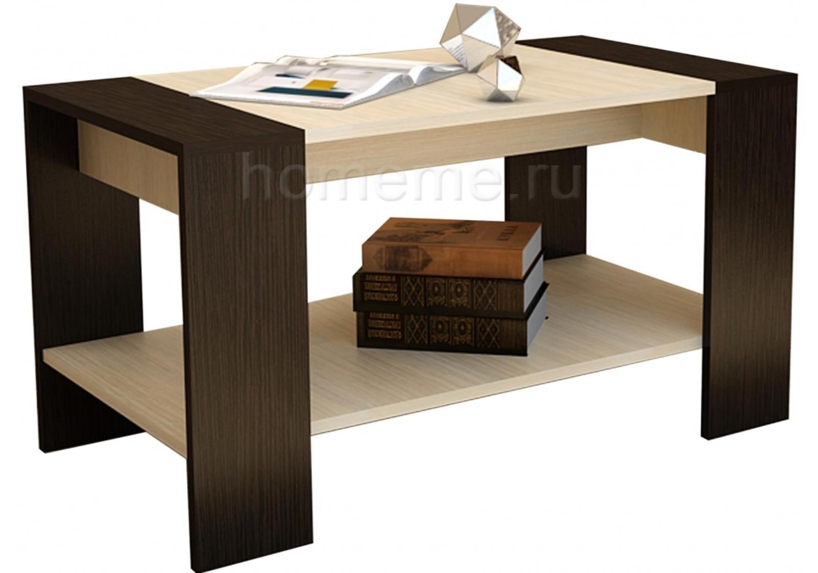 Кухонный стол HomeMe Квадро венге / дуб 294559 от Homeme.ru