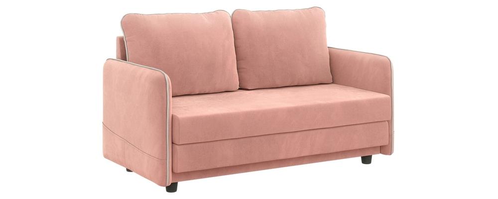 Диван тканевый прямой Слим Мини Jaguar розовый (Велюр)