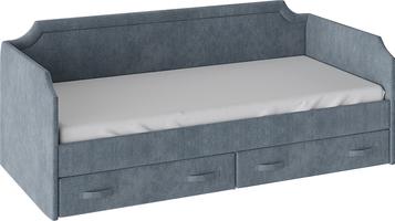 Кровать с мягкой обивкой и ящиками «Кантри» Тип 1 (900)