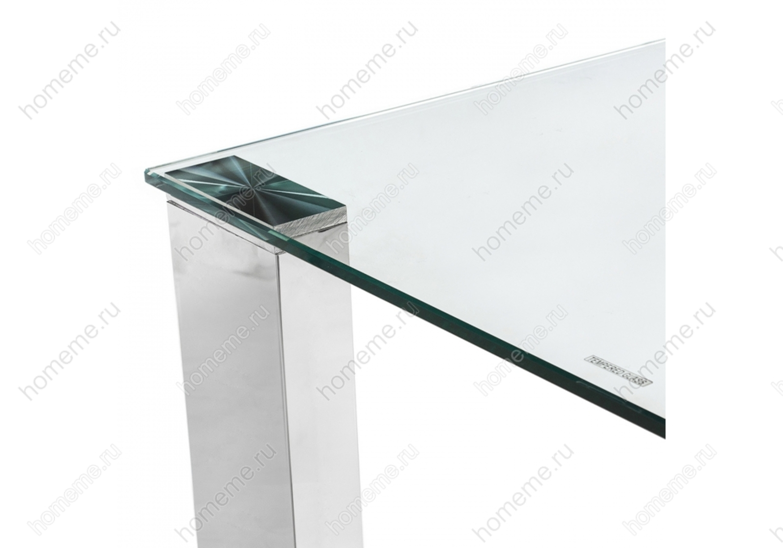 Стол стеклянный Style хром (1502)