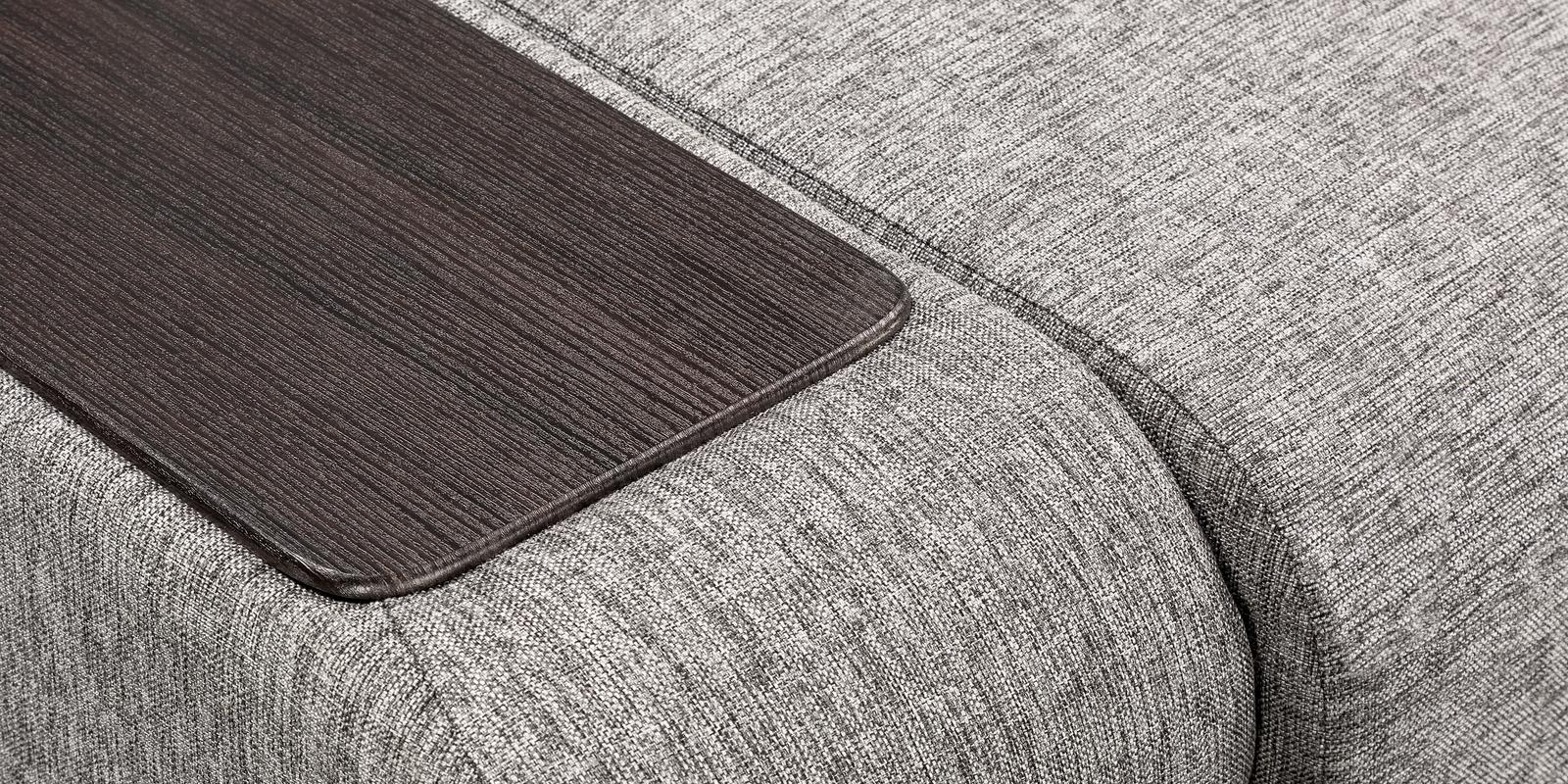 Диван тканевый угловой Нью-Йорк Madagascar серый (Рогожка)