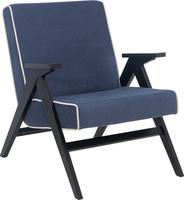 Кресло для отдыха Вест Венге, ткань Verona Denim Blue, кант Verona Light Grey