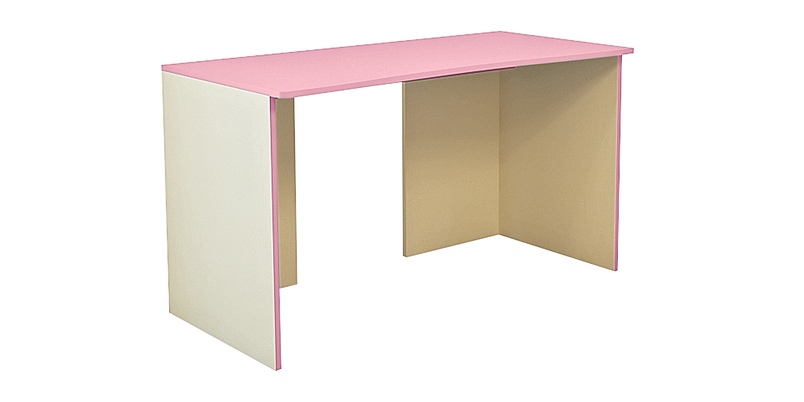 Стол письменный Нова 120 см (бежевый/розовый)