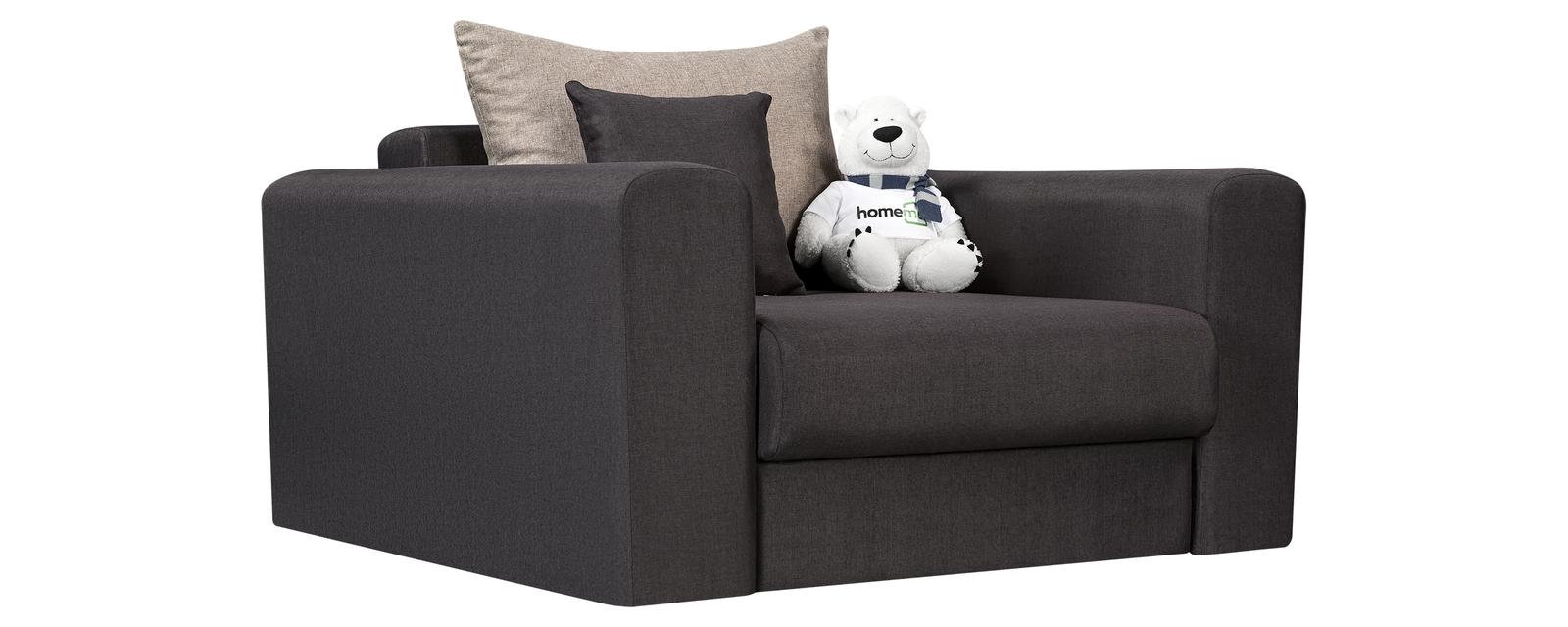 Кресло тканевое Медисон 80 см Kiton тёмно-серый (Рогожка) Медисон