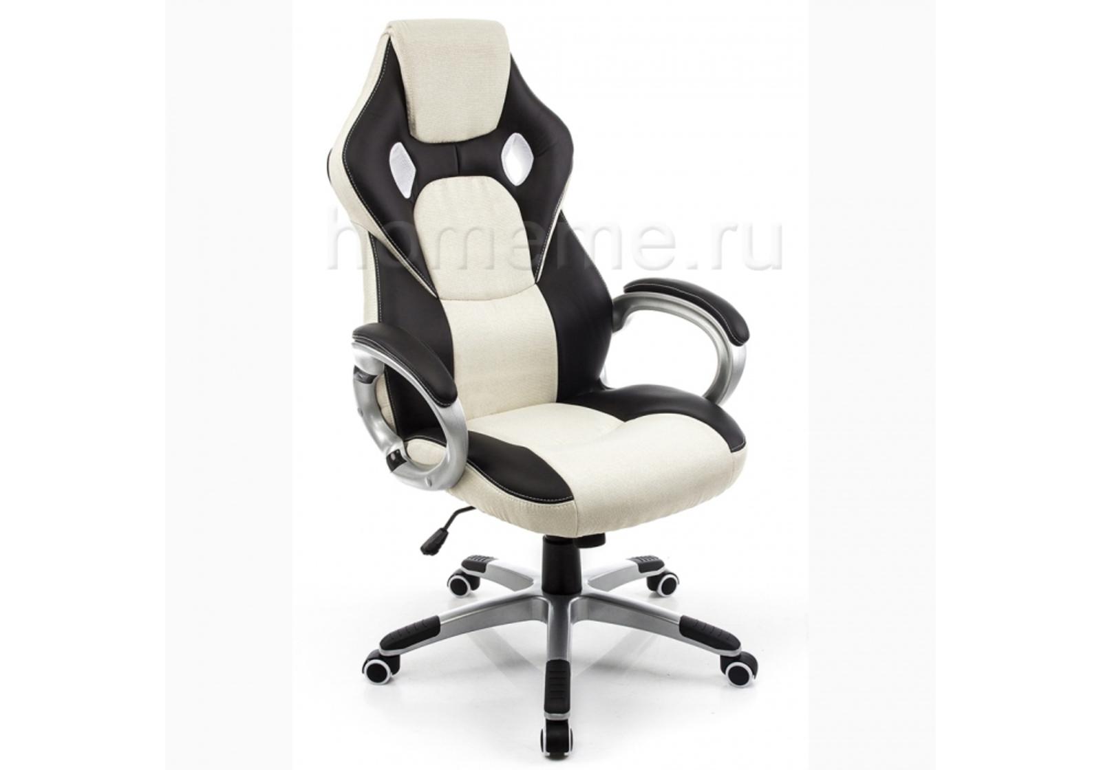 Кресло для офиса HomeMe Navara кремовое / черное 1723 от Homeme.ru
