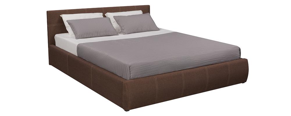 Мягкая кровать 200х160 Афина с подъемным механизмом (Madagascar коричневый)