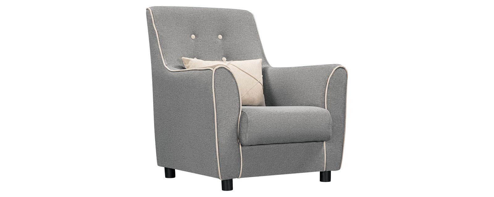 Кресло тканевое Флэтфорд Falcone серый (Рогожка)