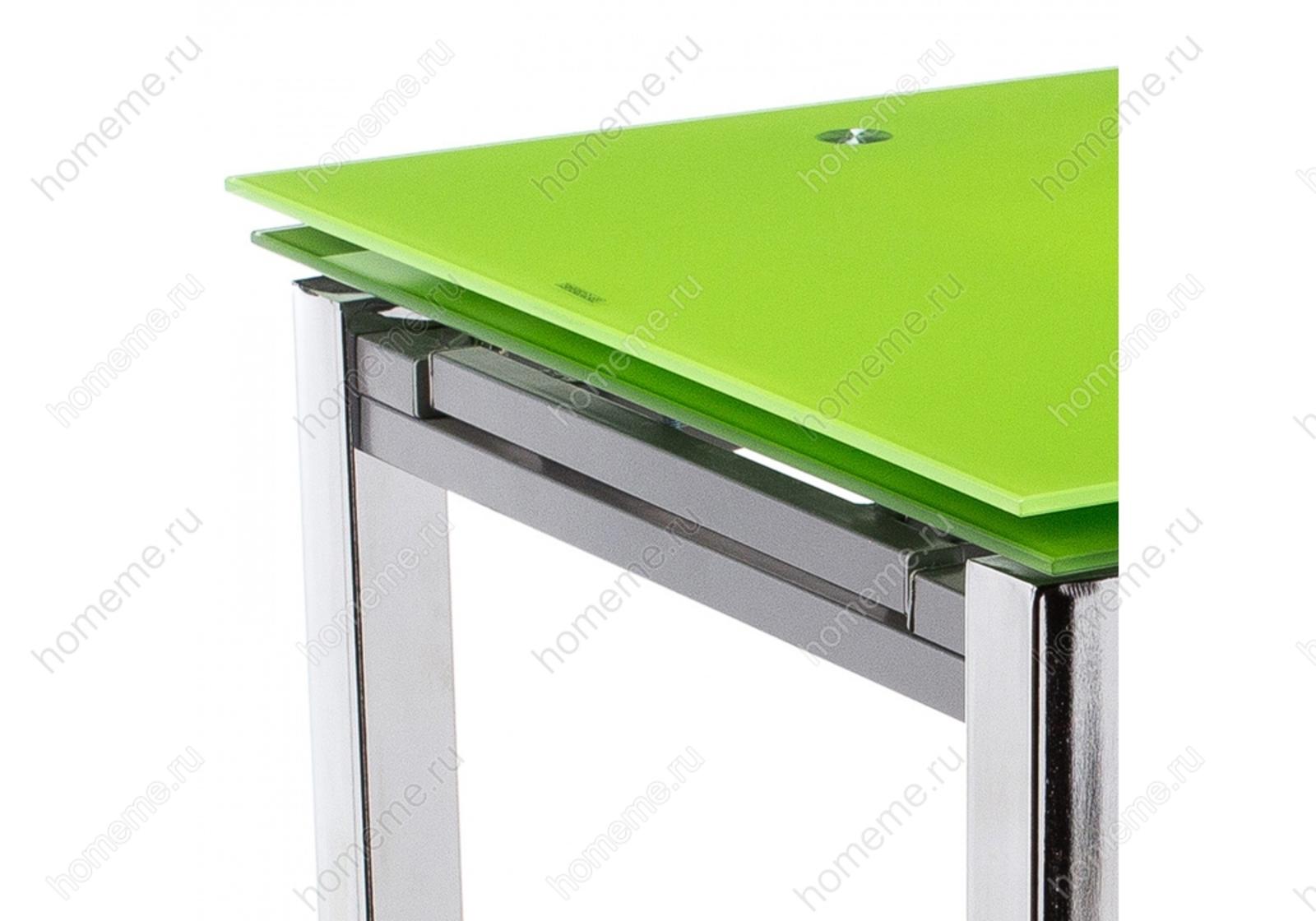 Стол стеклянный Kvadro зеленый (1527)