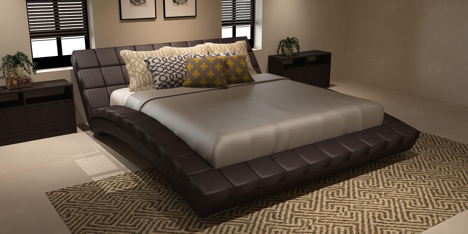 Купить Мягкая кровать 200х160 Оливия с ортопедическим основанием (Luxe коричневый), HomeMe, Коричневый