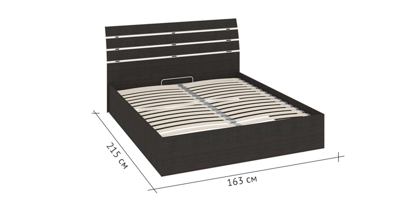 Кровать каркасная 200х160 Калгари без подъемного механизма (Дуб Кастано)