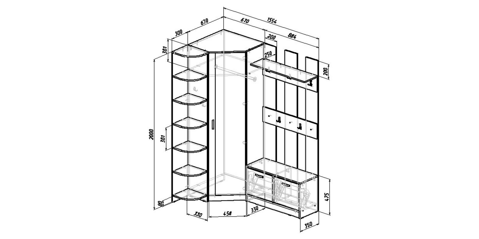 Модульная система Хельга вариант №8 (венге)