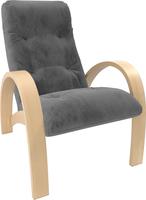 Кресло для отдыха Модель S7 Натуральное дерево/шпон, ткань Verona Antrazite Grey