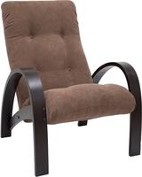 Кресло для отдыха Модель S7 Венге/шпон, ткань Verona Brown