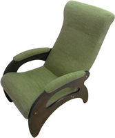 Кресло Мария/Темный орех/Зеленый БИНГО 7