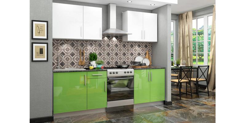 Кухонный гарнитур Версаль 180 см (зеленый/белый)